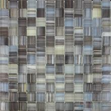 Gunmetal 23x23mm Hand Painted Glass Mosaic VG-HPB96
