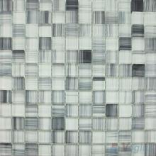 Light Gray 23x23mm Hand Painted Glass Mosaic VG-HPB94