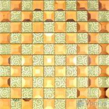 Light Tan Trapezia Mirror Glass Mosaic VG-MRB93