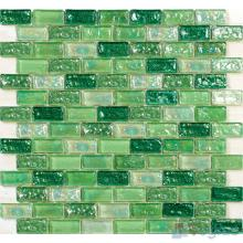 Pistachio Subway Glazed Iridium Glass Mosaic Tile VG-RDP99