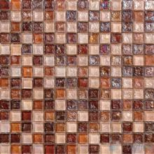 Rust Glazed Iridescent Glass Mosaic VG-RDF96