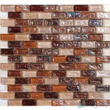 Rust Subway Glazed Iridium Glass Mosaic Tile VG-RDP96