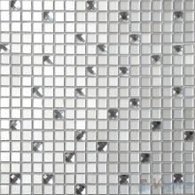 Silver 15x15mm Frosted Mirror Glass Mosaic Tile VG-MRA97