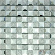 Silver Trapezia Mirror Glass Mosaic VG-MRB95