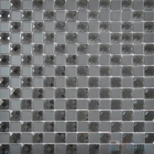 Slate Gray 20x20mm Jewel Mirror Glass Mosaic Tile VG-MRF98