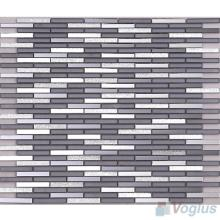 Slate Gray Bullet Mirror Glass Tiles VG-MRL98