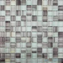 Taupe Gray 23x23mm Hand Painted Glass Mosaic VG-HPB97