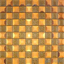 Tawny Trapezia Mirror Glass Mosaic VG-MRB99