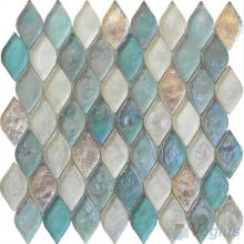 Tiffany Blue Flame Shape Lantern Glass Mosaic Tile Vg
