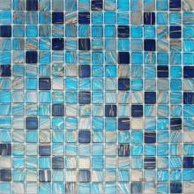 True Blue 20x20mm Gold Line Glass Mosaic VG-GLF94