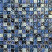 UCLA Blue Glazed Iridescent Glass Mosaic VG-RDF97