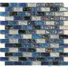 UCLA Blue Subway Glazed Iridium Glass Mosaic Tile VG-RDP95