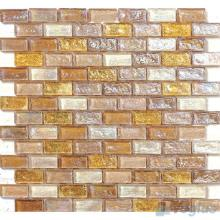 Vanilla Subway Glazed Iridium Glass Mosaic Tile VG-RDP88