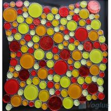 Yellow Mixed Pebble Bubble Glass Mosaic Tile VG-UPB94