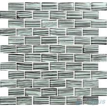 Zebra 1x2 Subway Hand Painted Glass Tile VG-HPD93