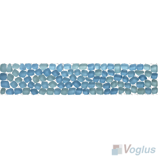 Tufts Blue Glass Mosaic Border VG-PBD94
