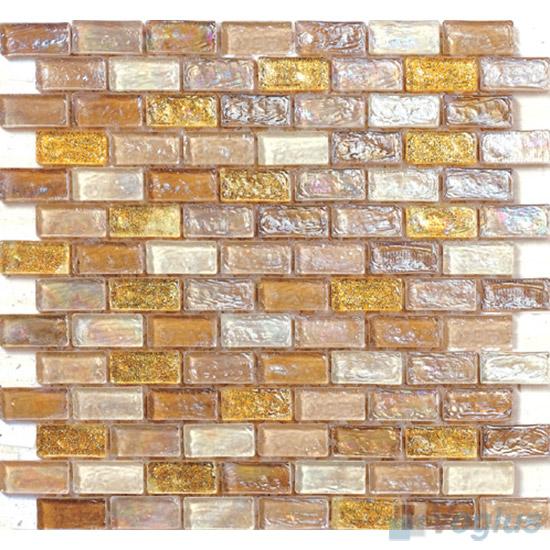 Vanilla Subway Glazed Iridium Glass Mosaic Tile VG-RDP88
