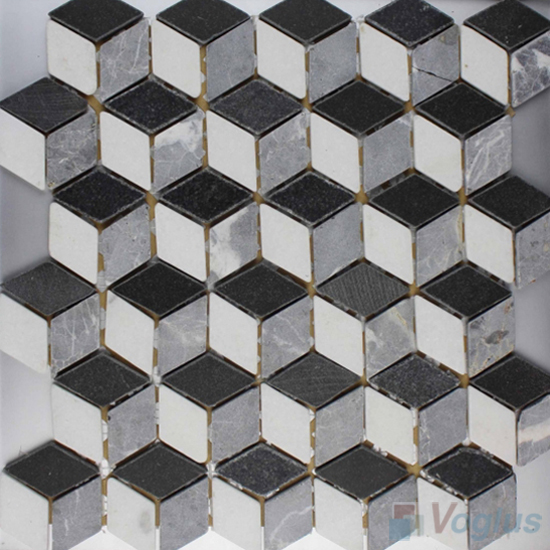 3D Diamond Marble Mosaic VS-PTD98