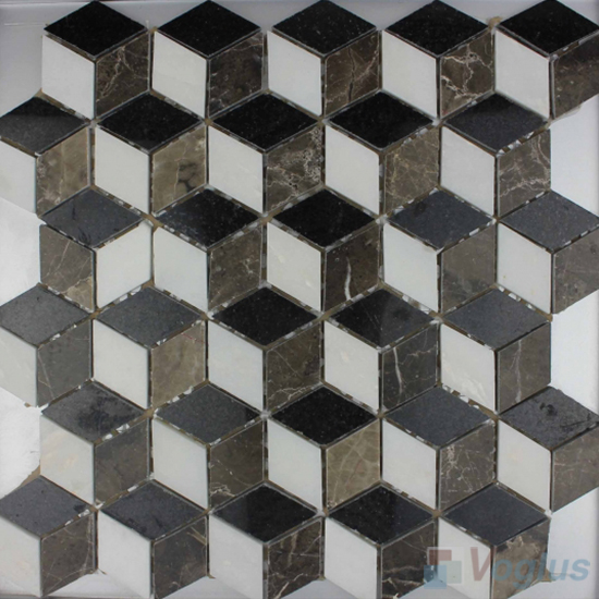 3D Diamond Marble Mosaic VS-PTD99