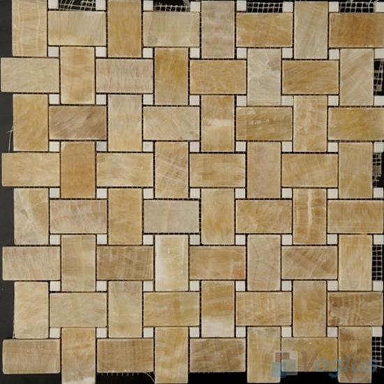 Basket Weave Onyx Stone Mosaic VS-Y96