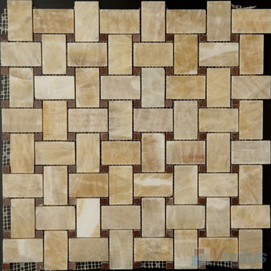 Basket Weave Onyx Stone Mosaic VS-Y97