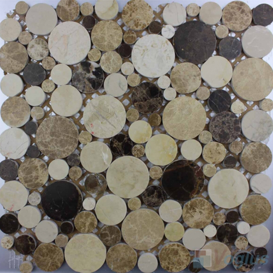 Browny Polished Bubble Marble Mosaic VS-PPB94