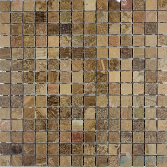 Cafe 20x20mm Polished Stone Mosaic VS-SFA96