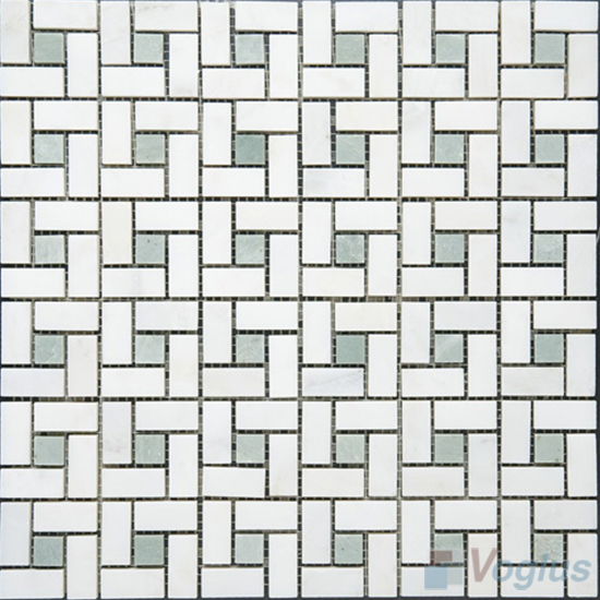 Cream Polished Pinwheel Marble Mosaic Tiles VS-PPW97
