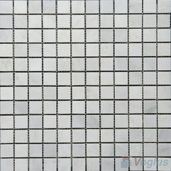 Eastern White 23x23mm Polished Stone Mosaic Tiles VS-SBA96