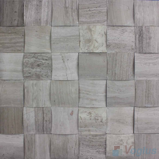 Gray Large Camber Stone Marble Mosaic VS-PCB95