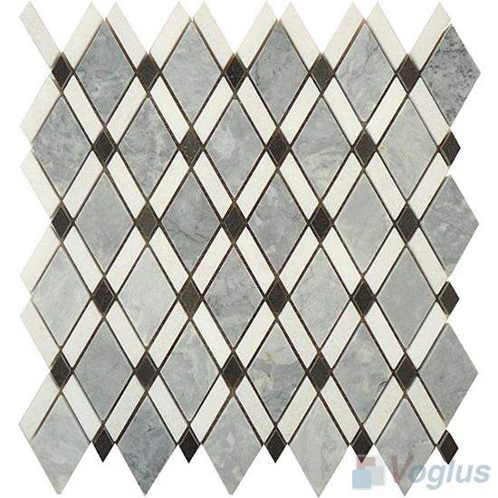 Gray Polished Diamond Stone Mosaic Tiles VS-PDM93