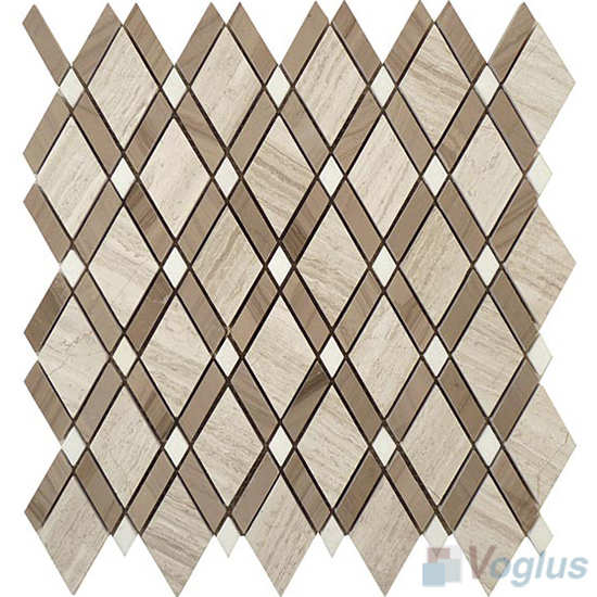 Gray Polished Diamond Stone Mosaic Tiles VS-PDM97