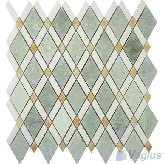 Green Polished Diamond Marble Mosaic Tiles VS-PDM95