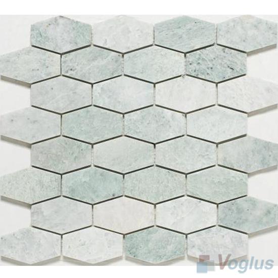 Green Polished Long Hexagon Marble Mosaic VS-PHX88