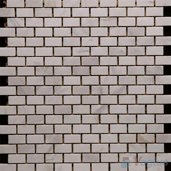 Guangxi White Polished Subway Small Brick Marble Mosaic VS-PBK88