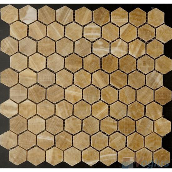 Hexagon Onyx Stone Mosaic VS-Y94