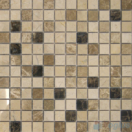 Light Emperador 1x1 Polished Stone Mosaic VS-SBB98