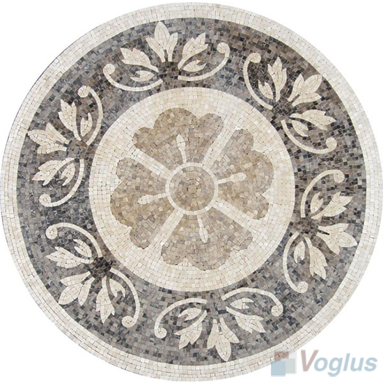 Marble Mosaic Medallion VS-AMD96