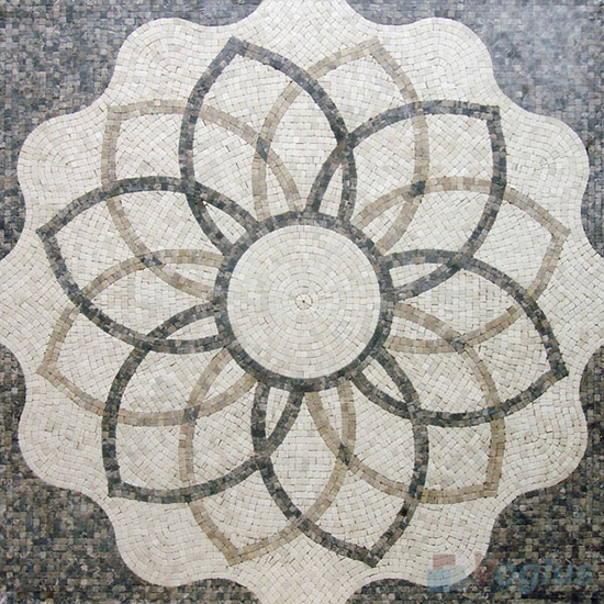 Marble Mosaic Square Medallion VS-ASQ99