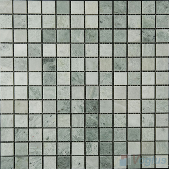 Ming Green 23x23mm Polished Stone Mosaic Tiles VS-SBA98