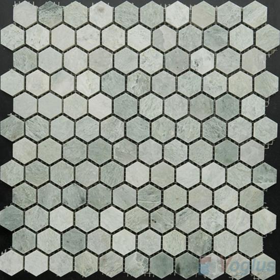Ming Green Polished Small Hexagon Marble Mosaic VS-PHX94