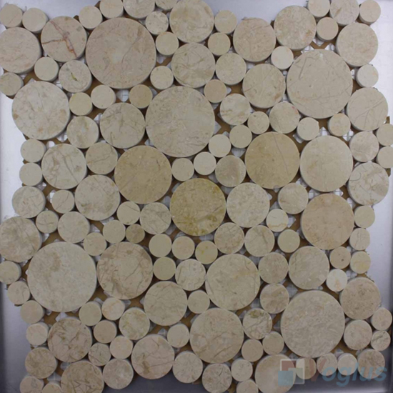 New Beige Polished Bubble Marble Mosaic VS-PPB93