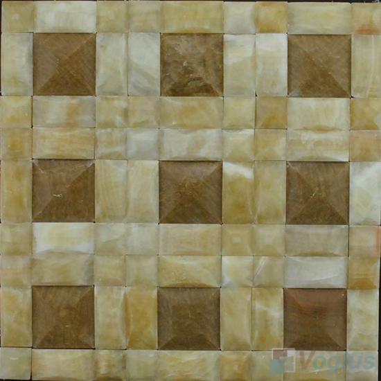 Pinwheel Onyx Stone Mosaic VS-Y89