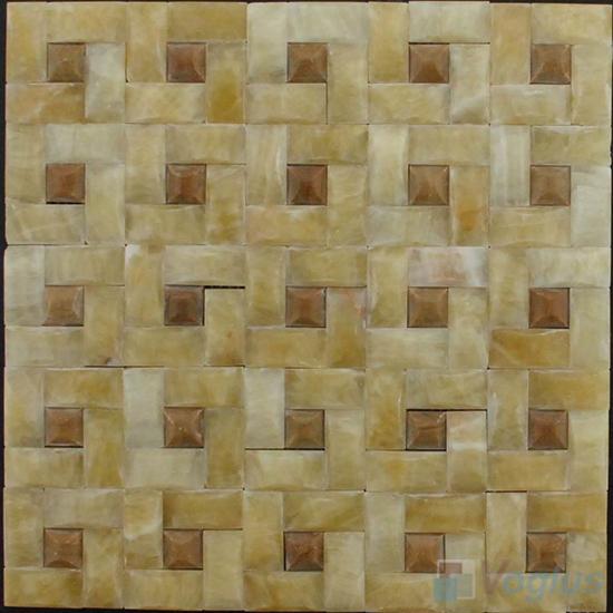 Pinwheel Onyx Stone Mosaic VS-Y91