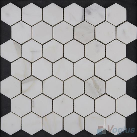 Venato White Polished Hexagon Marble Mosaic VS-PHX97