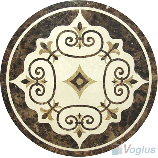 Waterjet Marble Mosaic Medallion VS-AMD93