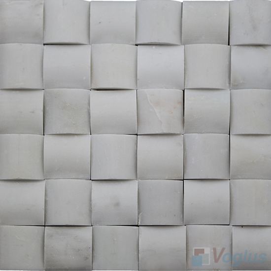 White Large Camber Stone Marble Mosaic VS-PCB94