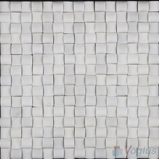 White Small Camber Stone Marble Mosaic VS-PCB99
