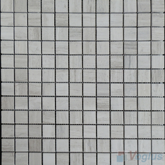Wooden White 23x23mm Polished Stone Mosaic Tiles VS-SBA99