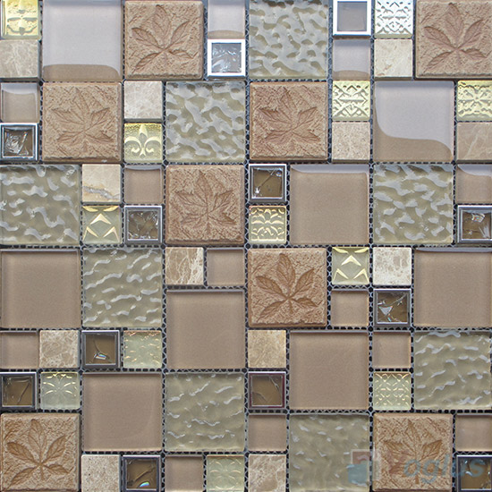 Appte Magic French Pattern Glass Ceramic Mosaic VB-GCM88